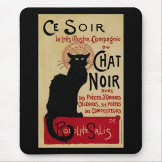 Vintage Art Nouveau, Le Chat Noir Mousepads