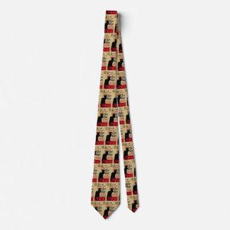 Vintage Art Nouveau, Le Chat Noir Neck Tie