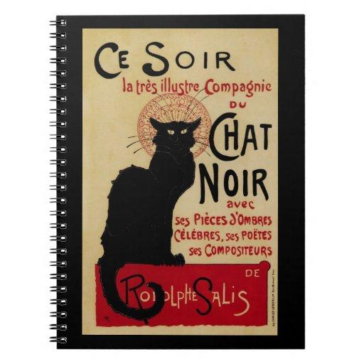 Vintage Art Nouveau, Le Chat Noir Notebook