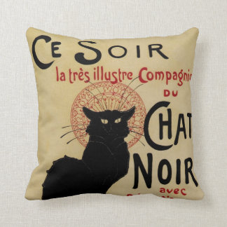 Vintage Art Nouveau, Le Chat Noir Pillows