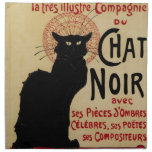 Vintage Art Nouveau, Le Chat Noir Printed Napkin