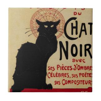 Vintage Art Nouveau, Le Chat Noir Ceramic Tiles