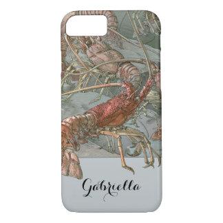 Vintage Art Nouveau, Lobsters in the Ocean iPhone 7 Case