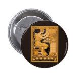 Vintage Art Nouveau Love Conquers All Scientist Button