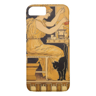 Vintage Art Nouveau, Love Conquers All Scientist iPhone 7 Case