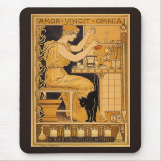 Vintage Art Nouveau, Love Conquers All Scientist Mouse Pad
