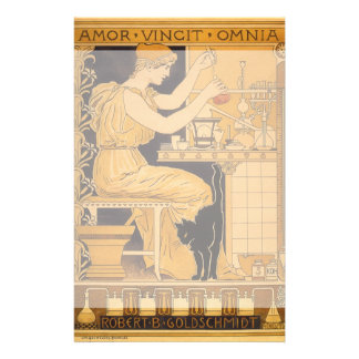 Vintage Art Nouveau, Love Conquers All Scientist Stationery