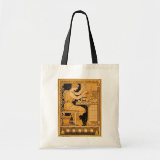 Vintage Art Nouveau, Love Conquers All Scientist Tote Bag