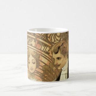 Vintage Art Nouveau Love Romance, Flirt by Mucha Coffee Mug