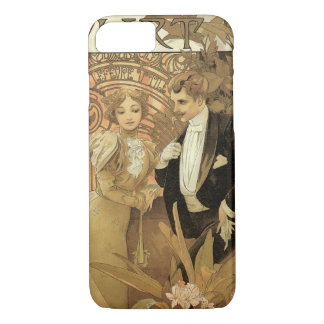 Vintage Art Nouveau Love Romance, Flirt by Mucha iPhone 8/7 Case