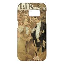 Vintage Art Nouveau Love Romance, Flirt by Mucha Samsung Galaxy S7 Case
