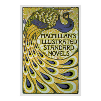 Vintage art nouveau Macmillan novels ad Poster