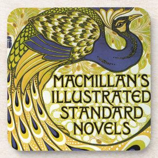 Vintage Art Nouveau, Macmillan's Peacock Feather Beverage Coaster