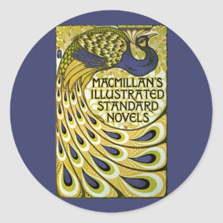 Vintage Art Nouveau, Macmillan's Peacock Feather Classic Round Sticker
