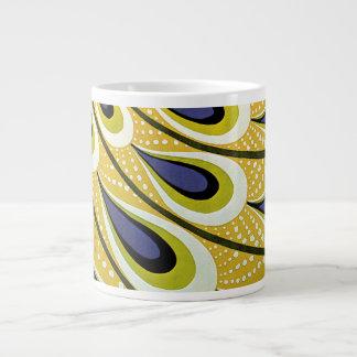 Vintage Art Nouveau, Macmillan's Peacock Feather Giant Coffee Mug
