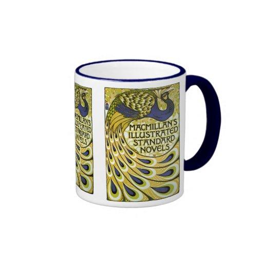Vintage Art Nouveau, Macmillan's Peacock Feather Coffee Mug