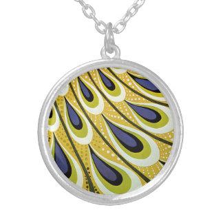Vintage Art Nouveau, Macmillan's Peacock Feather Round Pendant Necklace
