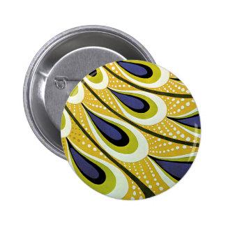Vintage Art Nouveau, Macmillan's Peacock Feather Pinback Button