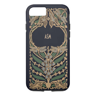 Vintage Art Nouveau Monogram iPhone 8/7 Case