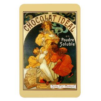 Vintage art nouveau Mucha chocolate drink ad Rectangle Magnet