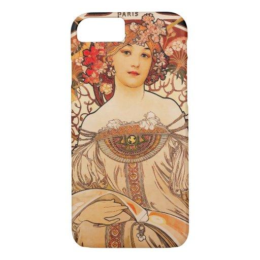 Vintage Art Nouveau Mucha Print iPhone 8/7 Case