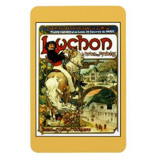 Vintage art nouveau Mucha railway ad Vinyl Magnets
