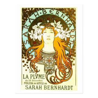 Vintage art nouveau Mucha Sarah Bernhardt ad Postcards