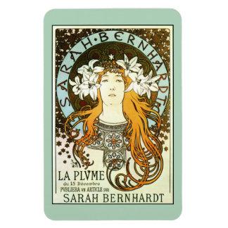 Vintage art nouveau Mucha Sarah Bernhardt ad Flexible Magnets