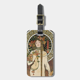 Vintage Art Nouveau Mucha Trappestine Poster Tag For Luggage