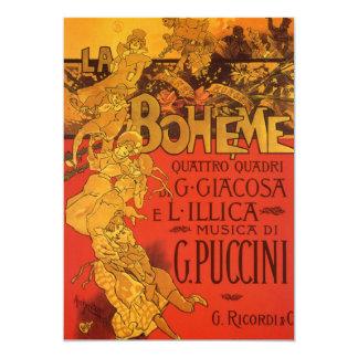 Vintage Art Nouveau Music La Boheme Invitation
