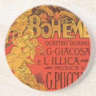 Vintage Art Nouveau Music, La Boheme Opera, 1896 Coaster