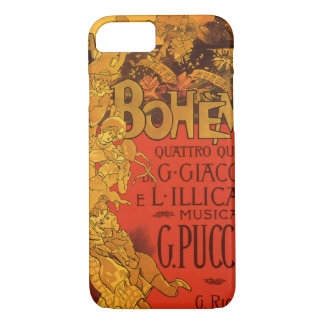 Vintage Art Nouveau Music, La Boheme Opera, 1896 iPhone 8/7 Case