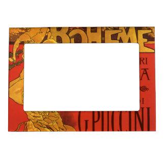 Vintage Art Nouveau Music, La Boheme Opera, 1896 Magnetic Frame