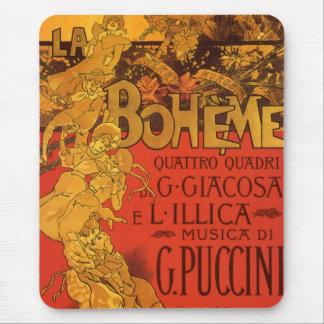 Vintage Art Nouveau Music, La Boheme Opera, 1896 Mouse Pad