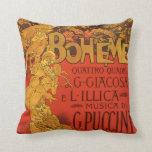 Vintage Art Nouveau Music, La Boheme Opera, 1896 Pillow