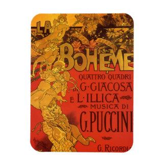 Vintage Art Nouveau Music, La Boheme Opera, 1896 Rectangular Photo Magnet