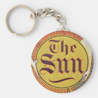 Vintage Art Nouveau, New York Sun Newspaper Keychain