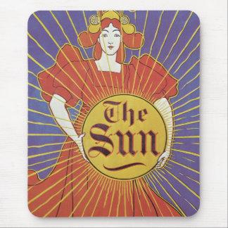 Vintage Art Nouveau, New York Sun Newspaper Mouse Pad