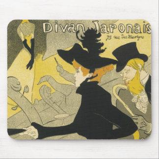 Vintage Art Nouveau Nightclub Divan Japonais Mousepad