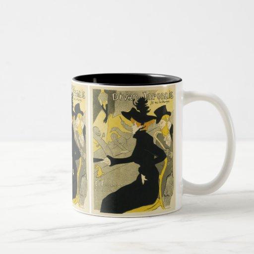 Vintage Art Nouveau, Nightclub, Divan Japonais Coffee Mug