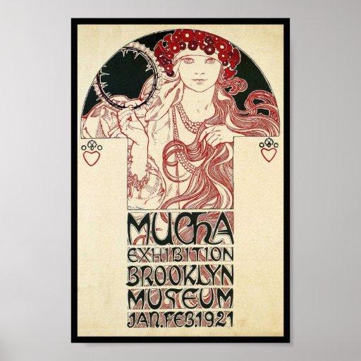 Vintage Art Nouveau NY Exhibition Poster Print | Zazzle