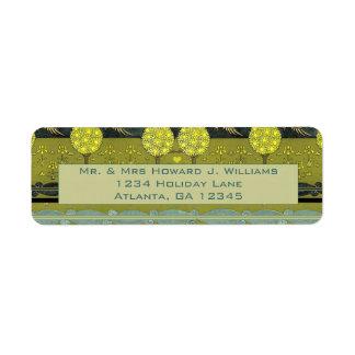 Vintage Art Nouveau Orchard Return Address Label