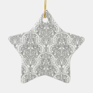 Vintage Art Nouveau Pattern Christmas Ornament