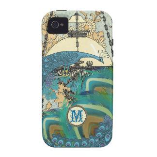 Vintage Art Nouveau Peacock Chandelier Feathers Case-Mate iPhone 4 Covers