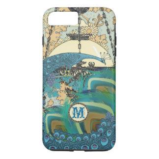 Vintage Art Nouveau Peacock Chandelier Feathers iPhone 8 Plus/7 Plus Case