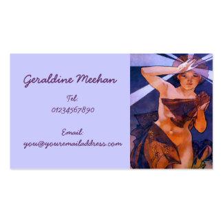 Vintage Art Nouveau Personal Business Card