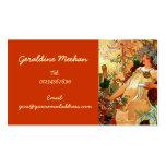 Vintage Art Nouveau Personal Business Cards