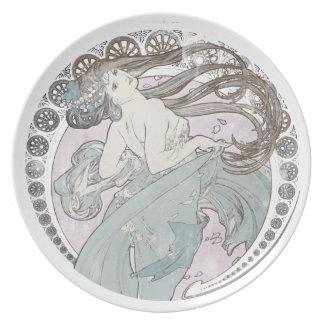Vintage Art Nouveau Dinner Plate