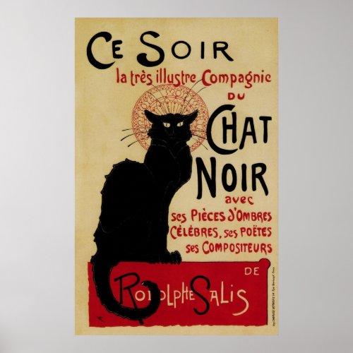 Vintage Art Nouveau Poster; Ce Soir Chat Noir posters