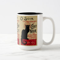 Vintage Art Nouveau Poster; Ce Soir Chat Noir Mug
